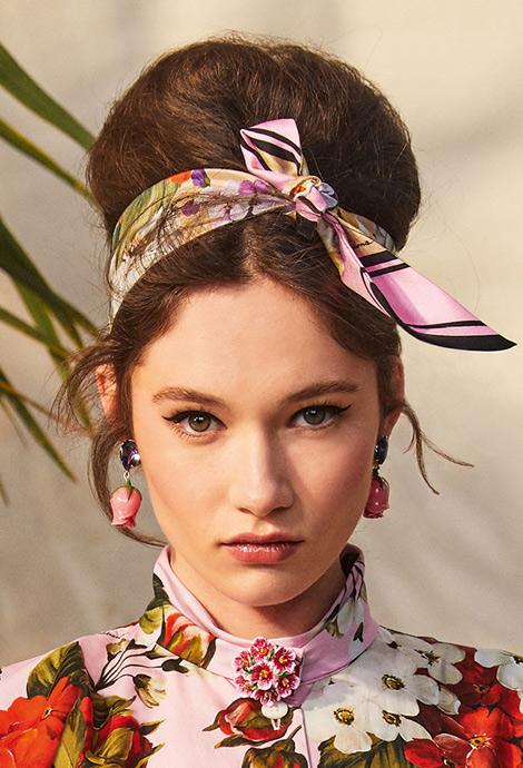 Летняя прическа, фото Dolce & Gabbana