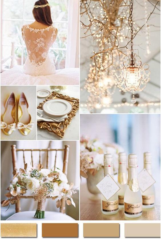 Модные цвета свадьбы: брызги шампанского
