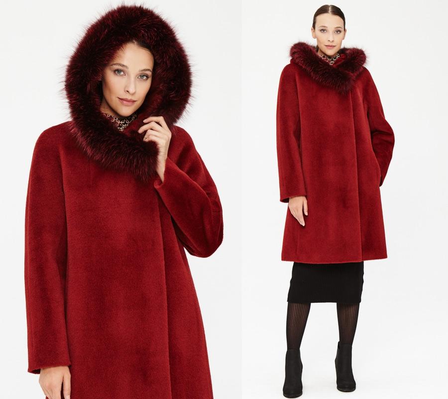 Зимнее пальто из альпаки