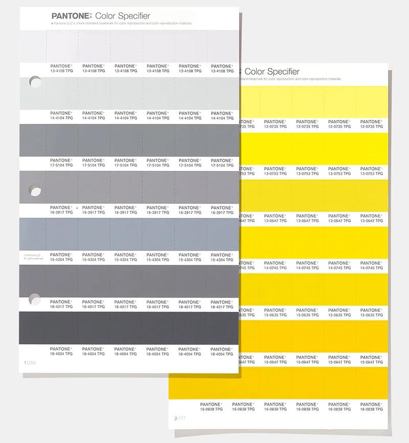 Палитры серых и желтых модных оттенков