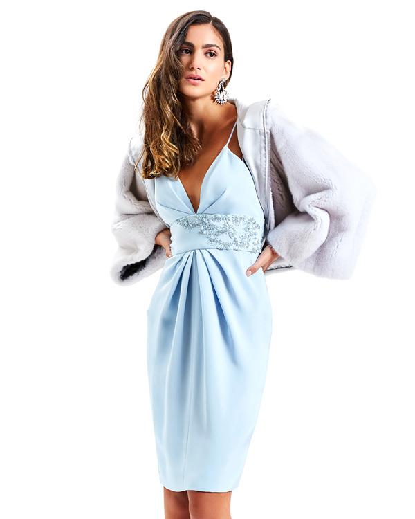 Короткое новогоднее платье 2022, Dennis Basso