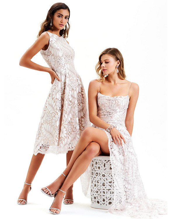 Белые новогодние платья