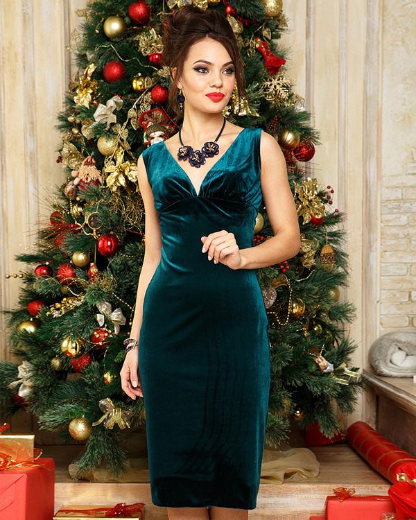 Короткое новогоднее платье