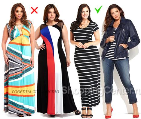 Узоры на одежде для полных женщин