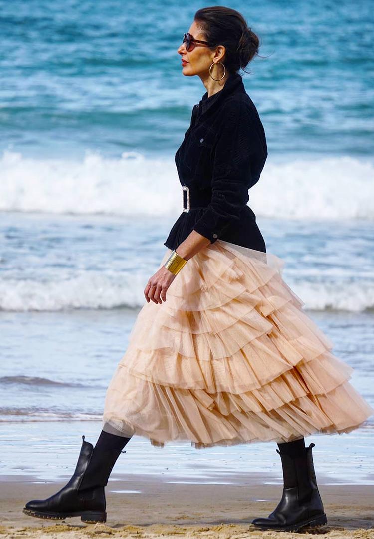 Юбка с воланами для женщины за 40