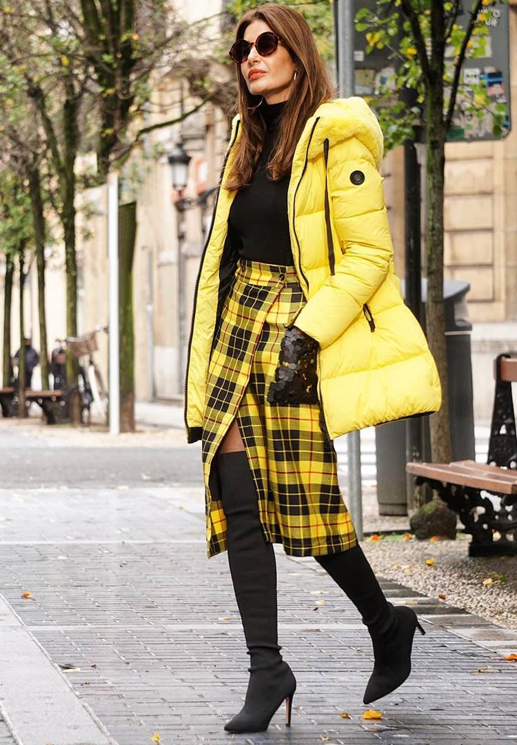 Кожаная юбка для женщины за 40
