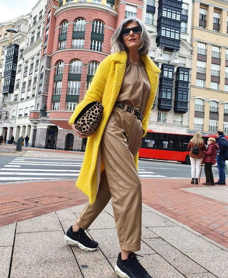 Фото, как одеваться модно после 60