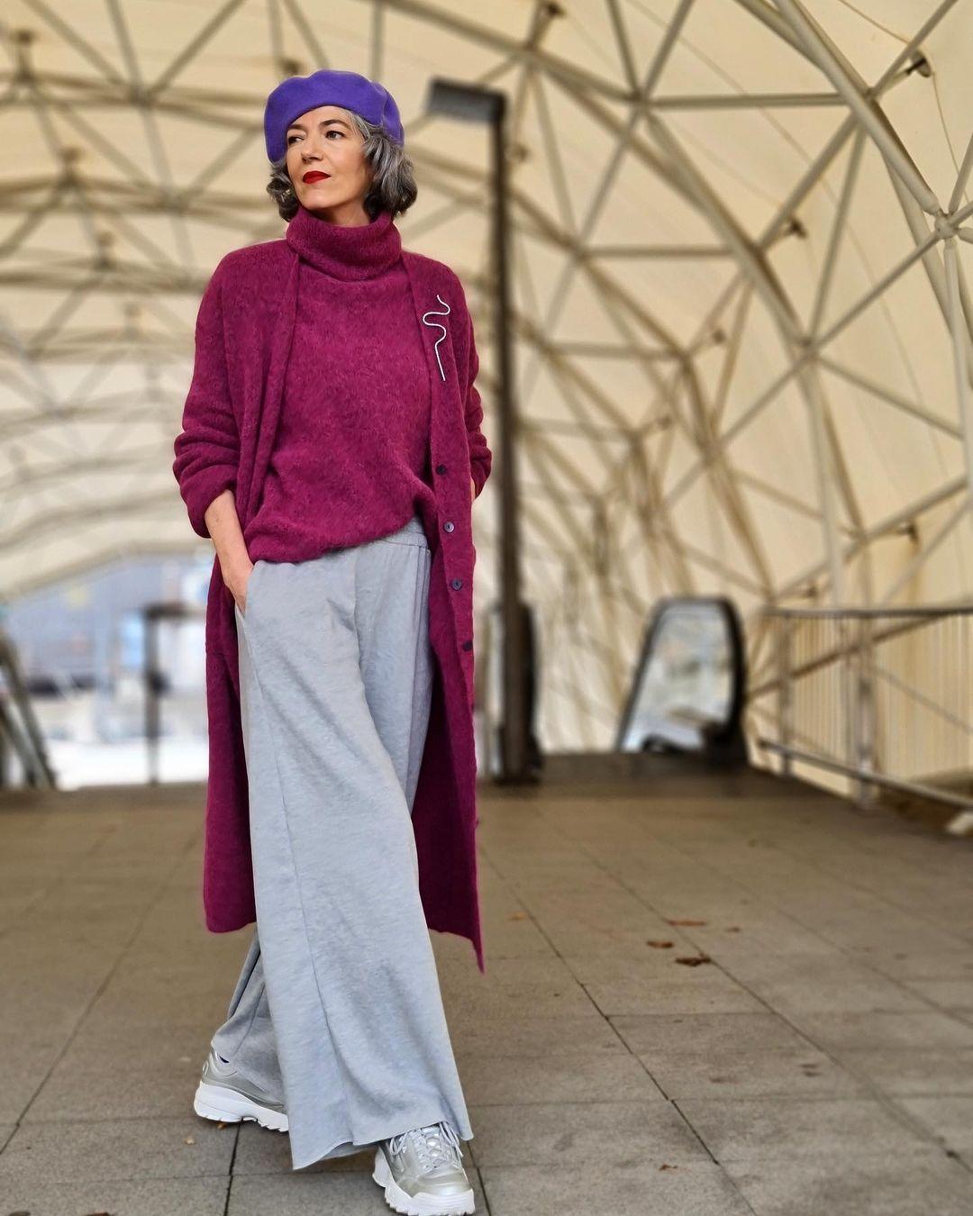 Фото, как одеваться женщине после 60 лет стильно и модно