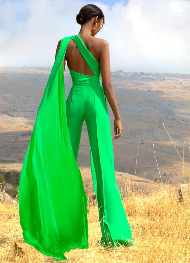 Модный зеленый костюм из коллекции Elie Saab