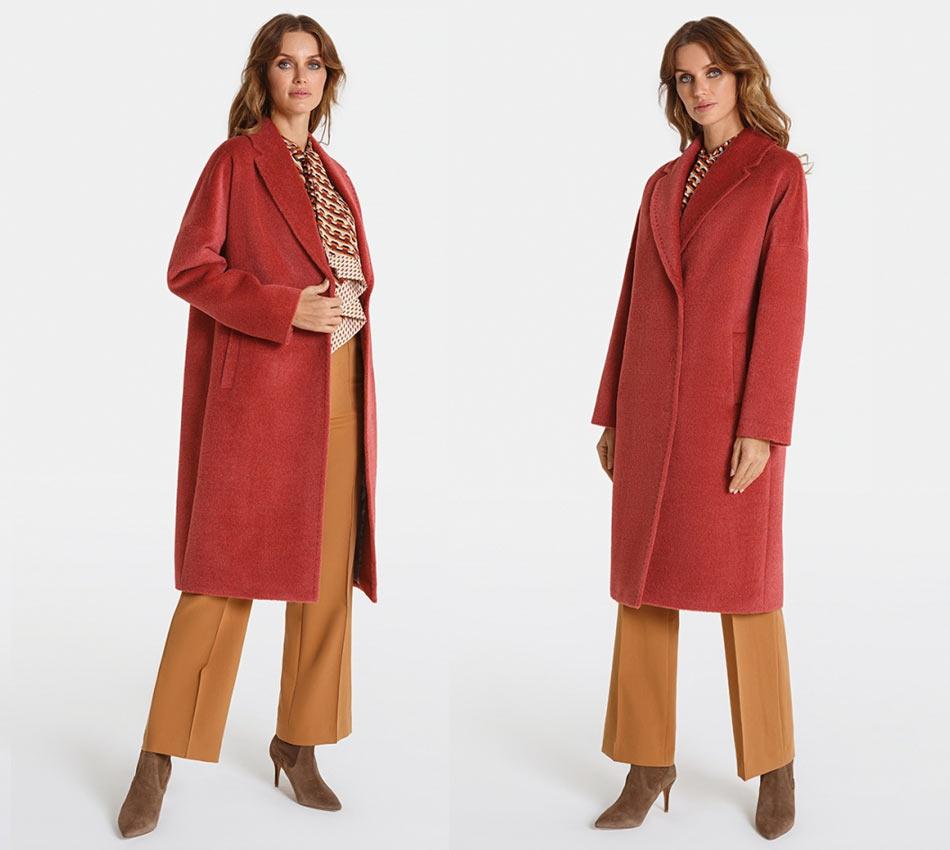 Красное осеннее пальто